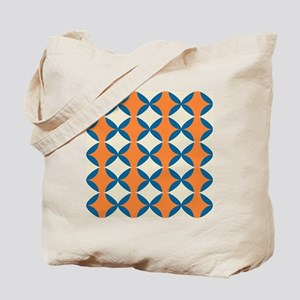 Orange and Blue Pattern Tote Bag