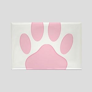 Pink Dog Pawprint Magnets