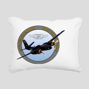 InvaderSqdn Rectangular Canvas Pillow