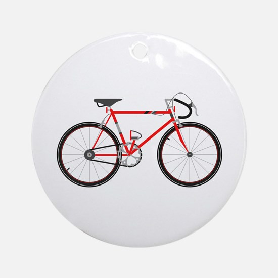 Red Road Bike Ornament (Round)