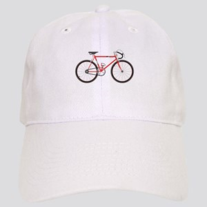 Red Road Bike Baseball Cap