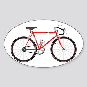 Red Road Bike Sticker