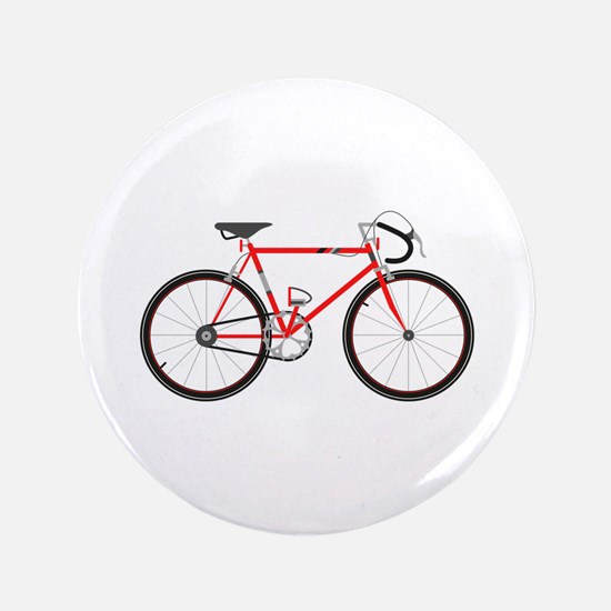 "Red Road Bike 3.5"" Button (100 pack)"
