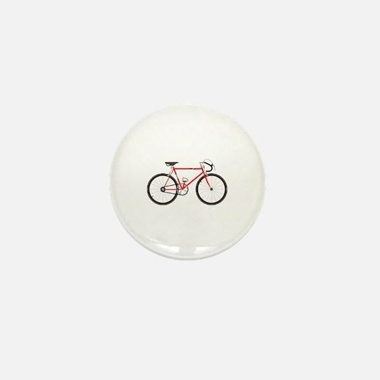 Red Road Bike Mini Button