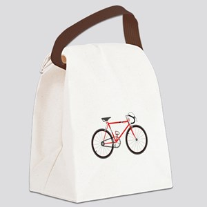 Red Road Bike Canvas Lunch Bag
