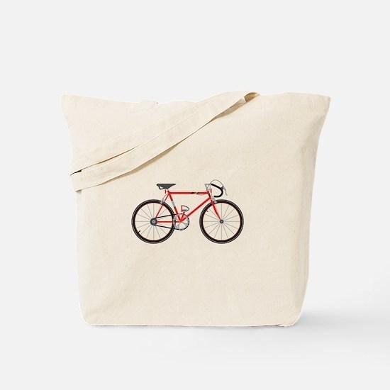 Red Road Bike Tote Bag