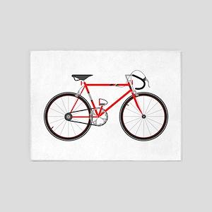 Red Road Bike 5'x7'Area Rug