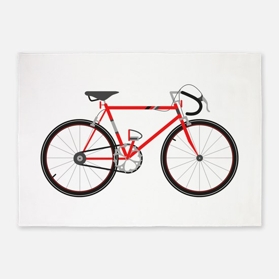 Red Road Bike 5'x7'Area Rug