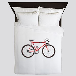 Red Road Bike Queen Duvet
