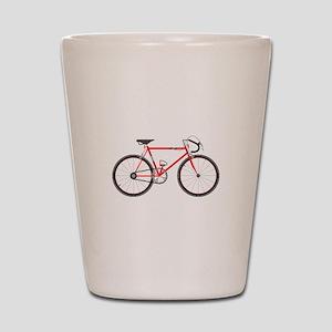Red Road Bike Shot Glass