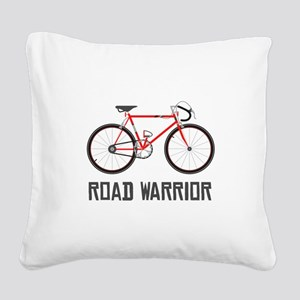 Road Warrior Square Canvas Pillow