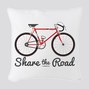 Share The Road Woven Throw Pillow