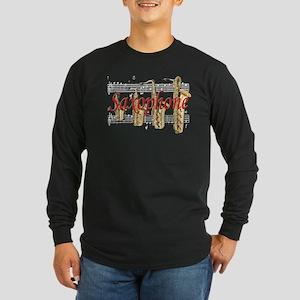 Saxophone Long Sleeve Dark T-Shirt