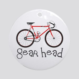 Gear Head Ornament (Round)