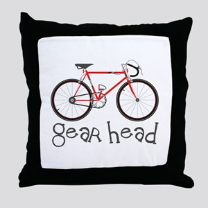 Gear Head Throw Pillow