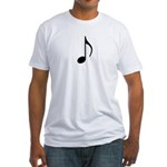 Traditional Basic Black Note Fitted T-Shirt