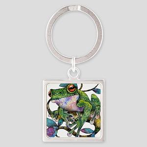 Wild Frog Square Keychain