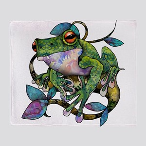 Wild Frog Throw Blanket