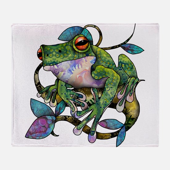 Wild Frog Throw Blanket