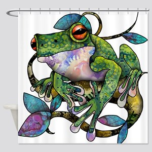 Wild Frog Shower Curtain