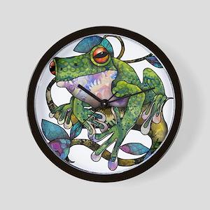 Wild Frog Wall Clock