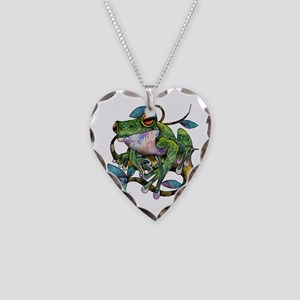 Wild Frog Necklace Heart Charm