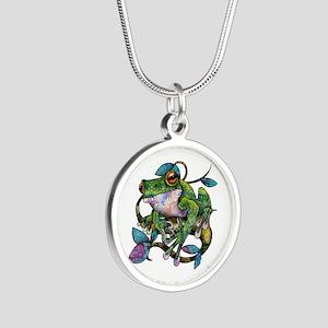 Wild Frog Silver Round Necklace