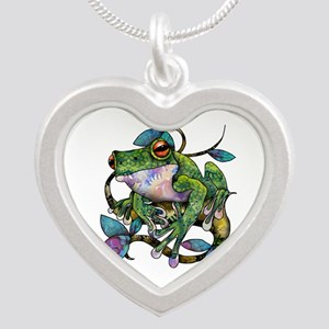 Wild Frog Silver Heart Necklace