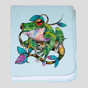 Wild Frog baby blanket