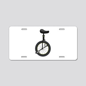 Unicycle Aluminum License Plate