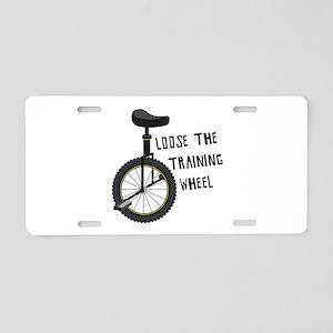 Loose The Training Wheel Aluminum License Plate