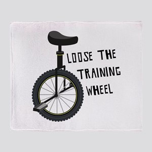 Loose The Training Wheel Throw Blanket