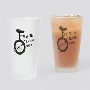 Loose The Training Wheel Drinking Glass