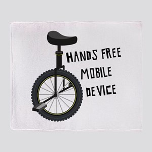 Hands Free Mobile Device Throw Blanket