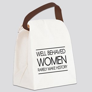 Well behaved women 2 Canvas Lunch Bag