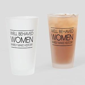Well behaved women 2 Drinking Glass