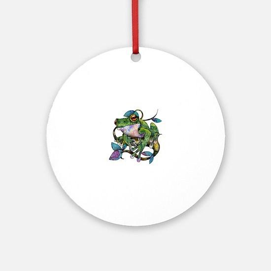 Wild Frog Round Ornament