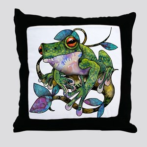 Wild Frog Throw Pillow