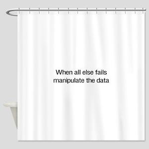 Manipulate the data Shower Curtain