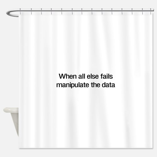 Manipulate the data Shower Curtain