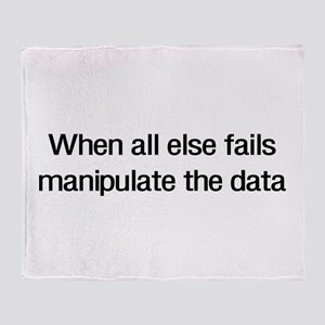Manipulate the data Throw Blanket