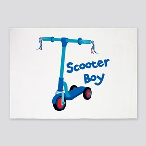 Scooter Boy 5'x7'Area Rug