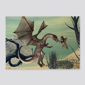 The dragon 5'x7'Area Rug