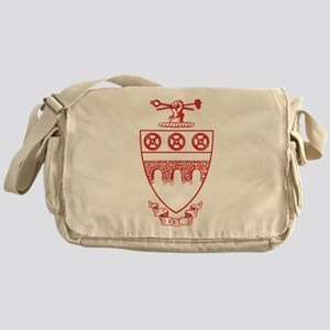 Theta Tau Fraternity Crest in Red Messenger Bag