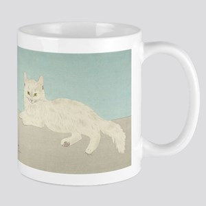 White Cat; Vintage Art Foujita Mugs