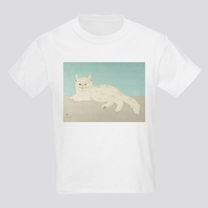 White Cat; Vintage Art Foujita T-Shirt
