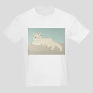 White Cat; Vintage Art Foujita T-Shirt