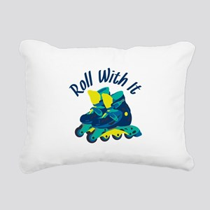 Roll With It Rectangular Canvas Pillow