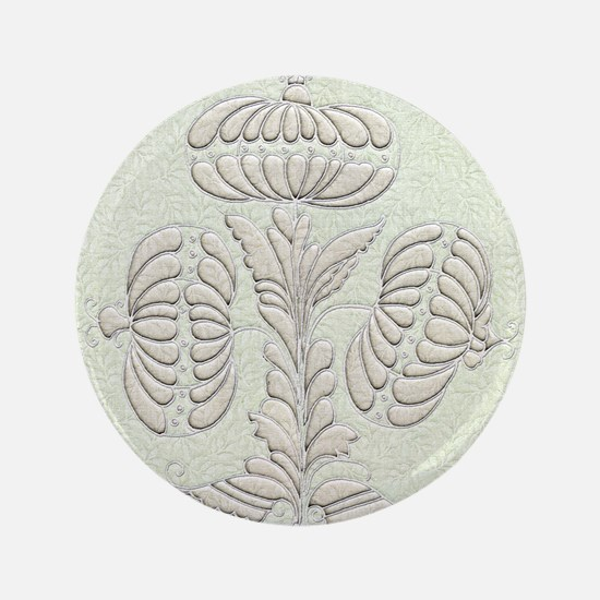 """Harvest Moons Early American Quilted Blossoms 3.5"""""""