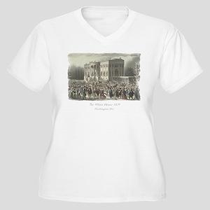 The White House 1 Women's Plus Size V-Neck T-Shirt
